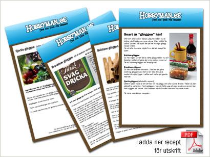 Ladda ner en pdf innehållande tre glöggrecept.