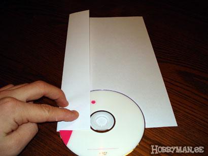 Vik in långsidorna på pappret