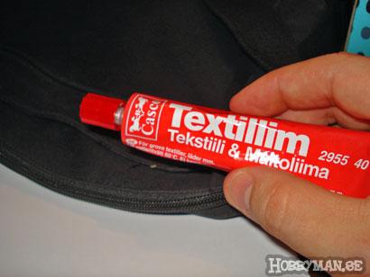 Fram med textillim
