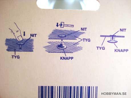Beskrivning på baksidan av förpackningen